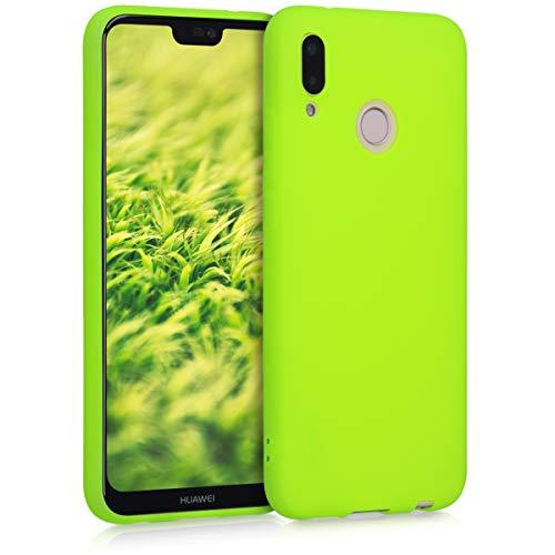 kwmobile Cover Compatibile con Huawei P20 Lite - Cover Custodia in Silicone TPU - Backcover Protezione Posteriore- Giallo Fluorescente