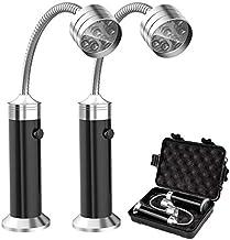 Ritte Grilllamp, 2 stuks, led, met plastic doos, 360° verstelbare BBQ-lamp, magnetisch, flexibel, BBQ-licht, outdoor gril...
