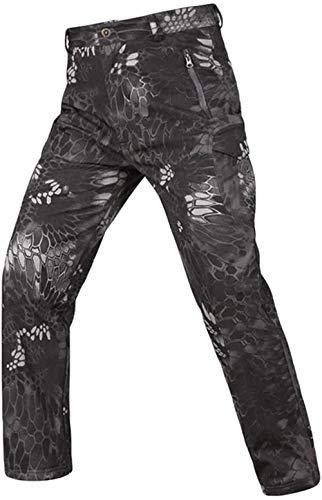 OLOEY Pantaloni Softshell mimetici Tattici per...