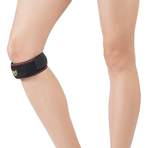 Correa para el tendón de la rótula Soles – Rodillera ajustable y transpirable – Tecnología resistente a la humedad – Soporte para la rodilla para sesiones y deportes de interior y exterior
