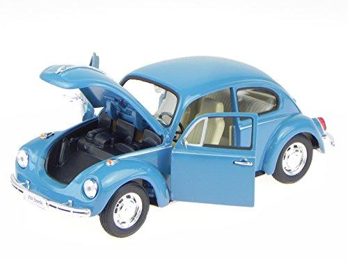 VW Käfer Beetle blau Modellauto 22436W Welly 1:24