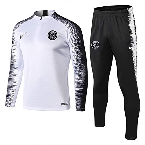 SQUZEA Paris Formazione Squadra di Calcio Vestiti Abbigliamento Sportivo Adulto Calcio Maschile, Felpe Adulti Sportivo Vestiti di Allenamento Gara a Squadre degli Uomini (Size : XXL)