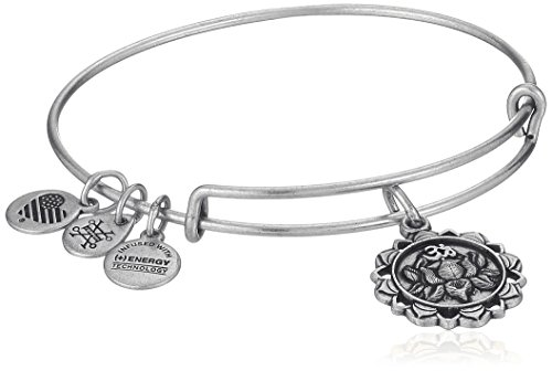 Alex and Ani Lotus Peace Petals IV Rafaelian Silver Bangle Bracelet