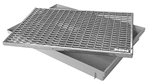 ACO 60x40cm Schuhabstreifer V-Stab Maschenrost mit Bodenwanne Vario Light Abtreter Fußmatte