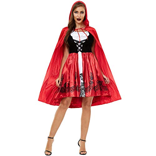 Cosplay Mujeres S 3XL de Talla Grande Capa de Halloween Caperucita Roja Disfraz de Personaje de Cosplay Uniforme Sexy Anime Cosplay Disfraz A XL
