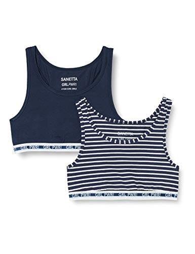 Sanetta Mädchen Bustier Doppelpack Midnight Unterwäsche, blau, 152