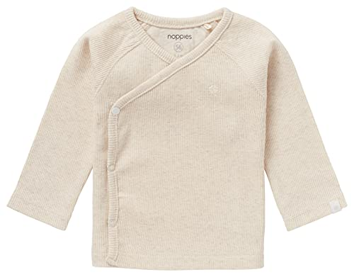 Noppies Unisex Baby U Tee Overlap Ls Rib Nanyuki T Shirt, Ras1202 Oatmeal, 56 EU