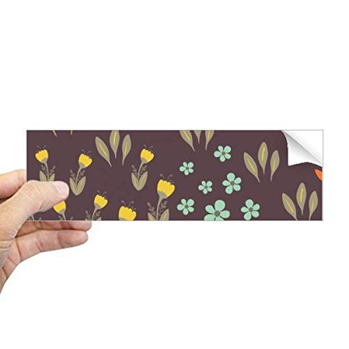 DIYthinker Bruin Blad Bloem Plant Verf Rechthoek Bumper Sticker Notebook Venster Sticker