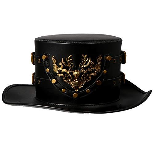 NUOBESTY PU Sombrero de Caballero Patrón de Alce Sombrero...