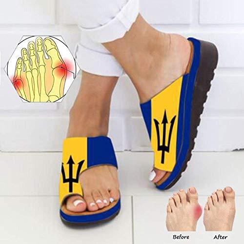 Ciabatte da Spiaggia estive per Sandali da Donna, Pantofole con Zeppa con Plateau Infradito Ortopediche Scarpe estive per Donna con borselli