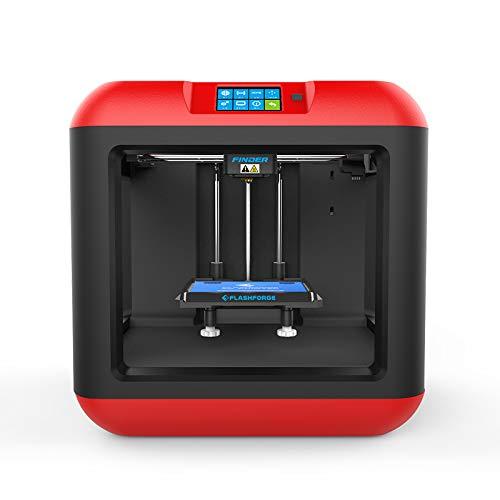 FlashForge FFF985 1169 Finder de impresora 3D Extrusora individual, negro / rojo