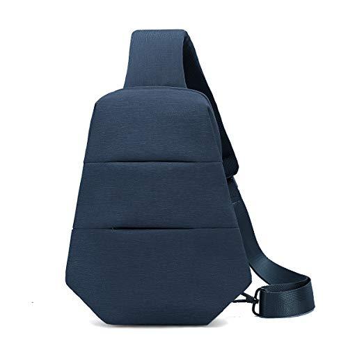 Sling Bag Backpack Chest Shoulder Pack Daypacks Outdoor Crossbody Backpacks Gym Bag for Men and Women (Blue)