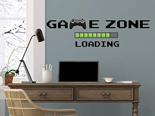 Game Zone Loading Wandtattoo Playstation Game Wall Stickers Videospiel-Aufkleber Playroom Wall Decor Game Zone Loading Teens Room Decor R125