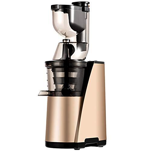 EastMetal - Licuadora lenta con motor silencioso y función de marcha atrás, exprimidor de prensado en frío sin goteo para zumo de frutas y verduras saludable y nutritivo