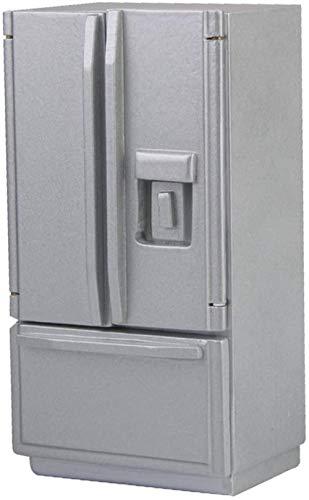 hsj LF- Spielzeug 01.12 Puppenhaus Küche Miniatur aus Holz Kühlschrank Kühlschrank Silber Lernen
