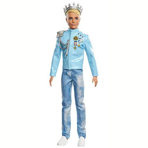 Barbie GML67 - Barbie Prinzessinnen Abenteuer Prinz Ken Puppe (ca. 30 cm) mit Mode und Accessoires, Spielzeug ab 3 Jahren