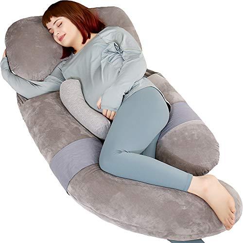 MOON PINE 60 Inch Pregnancy Pillow, Detachable U...