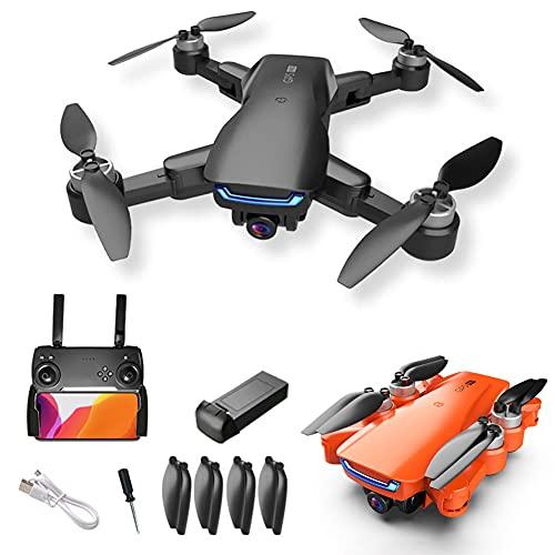 AFANG GPS Drone con Cámara 4K HD, Drone Plegable FPV RC Quadcopter con Retorno Automático A Casa, Sígueme, Modo Sin Cabeza, Vuelo De Trayectoria, para Niños, Adultos Y Principiantes,Naranja