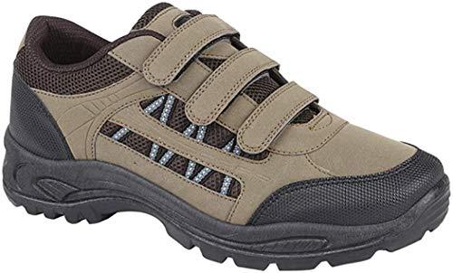 Herren DEK ASCEND Dreifach klettverschluss Trekking & wandern Schuhe,Khaki/Brown,7 UK Child