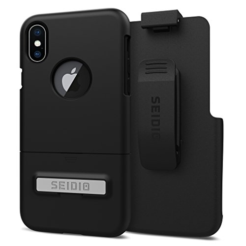 Seidio Surface Case and Holster COMBO for the Apple iPhone X (Black/Black)