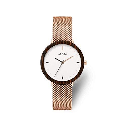 Mam relojes ferra Damen Uhr analog Japanisches Quarzwerk mit Edelstahl Armband 679
