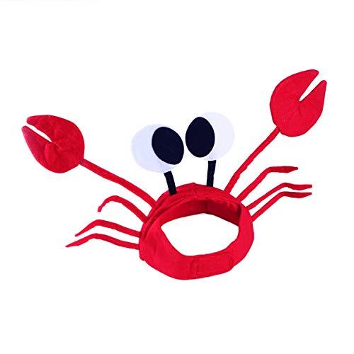 KESYOO 1 Stuks 3D Krab Hoeden Grappig Schattig Kostuum Krab Hoed Decoratieve Halloween Krab Caps Voor Feest Halloween Kerst Pasen-Rood