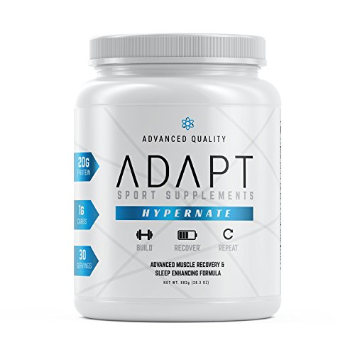 Adapt Hypernate Low-Carb Casein Protein Powder for Sleep Aid, Lean Muscle and Increased Recovery | Naturally Flavored Chocolate, 30 Servings