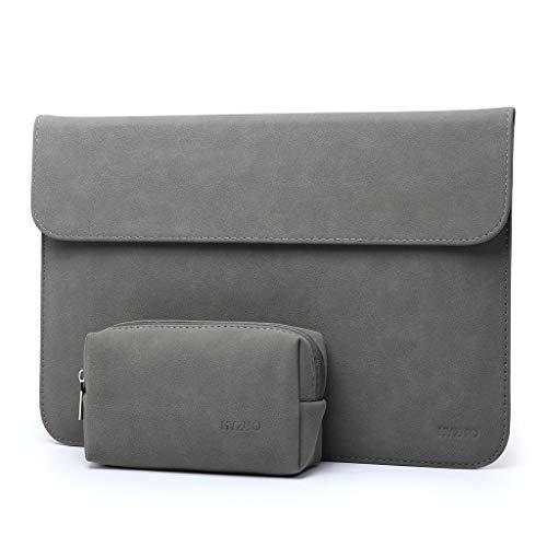 HYZUO 13-13,5 Zoll Laptop Hülle Tasche Laptophülle Kompatibel mit 13,5 Surface Laptop/Alt MacBook Air 13/ MacBook Pro 13 2012-2015/ iPad Pro 12,9 2017 2015/ Hp Spectre x360 13, Dunkelgrau(Horizontale)