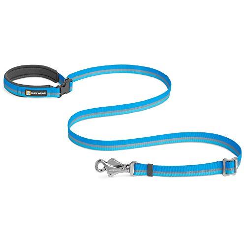 RUFFWEAR, Crag Dog Leash (Previously The Slackline Leash), Hand-Held or Waist-Worn Reflective and Adjustable Lead, Blue Dusk