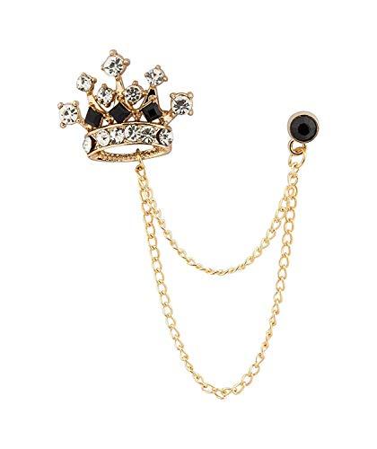 Insignia de cristal retro de la corona del caballero con cadena colgante...