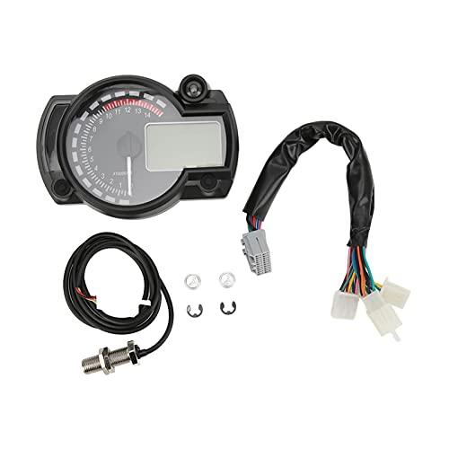 Modificación Del Velocímetro LED De La Motocicleta, Odógrafo Del Velocímetro De La Motocicleta 15000 R/Min Pantalla LCD Ajustable Universal Para Coches De 12 V RVs