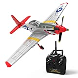 VOLANTEXRC Remote Control Airplane RC Airplane Mustang RC Aircraft Plane Ready to Fly with 6-Axies Gyro System, Well Slow Glide Performance, Best Park Flyer for Beginners, Adults (768-1 RTF Red)