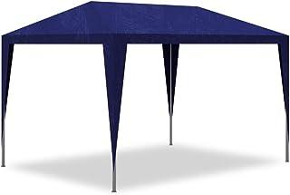 vidaXL Tienda de Fiesta de Jardín Acero y Polietileno Azul 3x3m Carpa de Patio