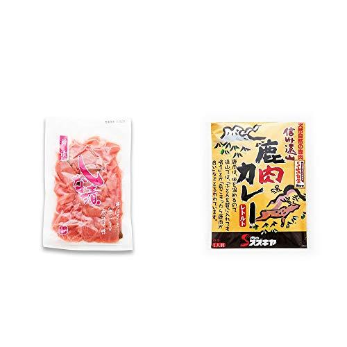 [2点セット] しな漬け(160g)・信州遠山 鹿肉カレー 中辛 (1食分)