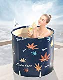 Inflatable Bathtub Portable Bathtub Hot Tub Inflatable in Small bathroom Home soak (26.8x27.6in)