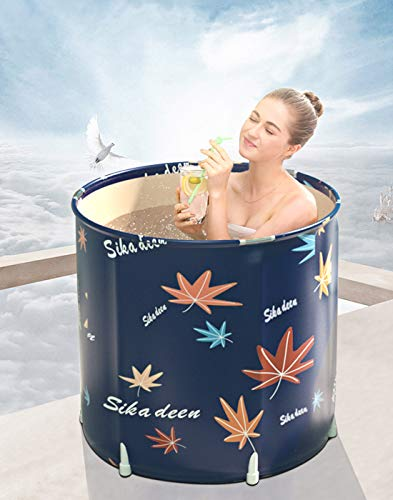 Inflatable Bathtub Portable Bathtub Hot Tub Inflatable in Small bathroom Home soak (26.8x27.6in)