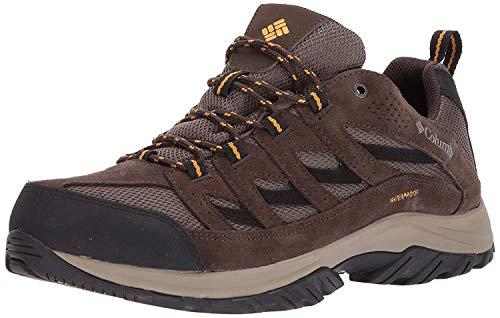 Columbia Men's Crestwood Waterproof Hiking Shoe, mud, squash, 9 Wide
