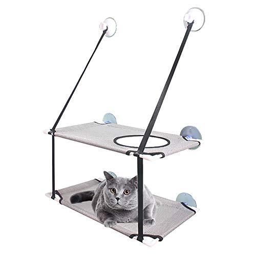 Vinnykud Katzen Fensterplätze Doppeldecker Katzenfenster-Hängematte Sonnenbad Katzenbett Fasst Bis zu 20 kg