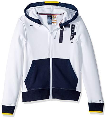 Tommy Hilfiger Herren Hoodie with Magnetic Zipper Sweatshirt, weiß, XX-Large