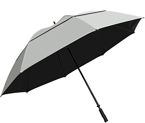 Suntek 68 Reflective UV Protection Windcheater Umbrella with Vented Double Canopy (Silver/Black)
