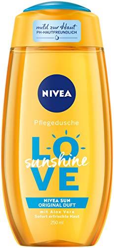 NIVEA Pflegedusche Love Sunshine (250 ml), erfrischendes Duschgel mit Aloe Vera, pH-hautfreundliche Dusche mit Original NIVEA Sun Sonnencreme Duft