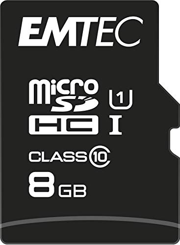 Preisvergleich Produktbild Emtec microSD Class10 Gold+ 8GB Flash Speicher (inkl. SD Adapter)