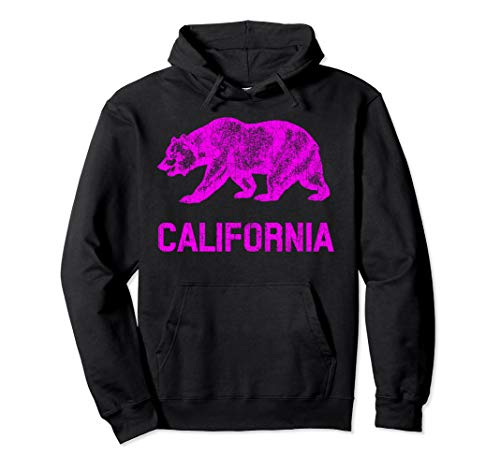 California Republic Flagge Distressed Souvenir Bär Pullover Hoodie