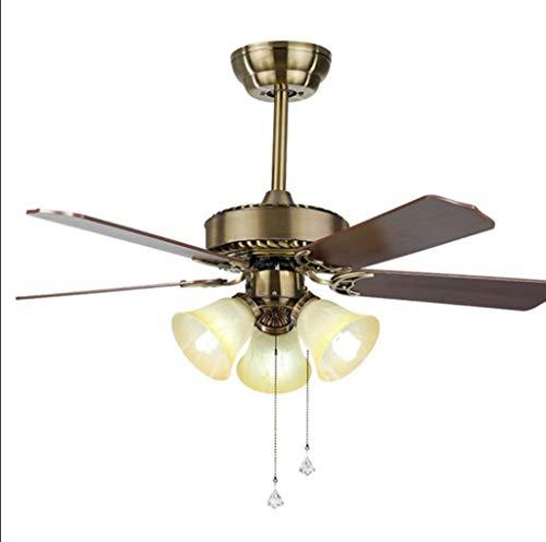 Ventilador De Techo Reversible De 42 Pulgadas con Iluminación Y Control Remoto, Candelabro para Dormitorio Y Comedor, Ventilador Silencioso De 3 Colores con 3 Velocidades De Viento