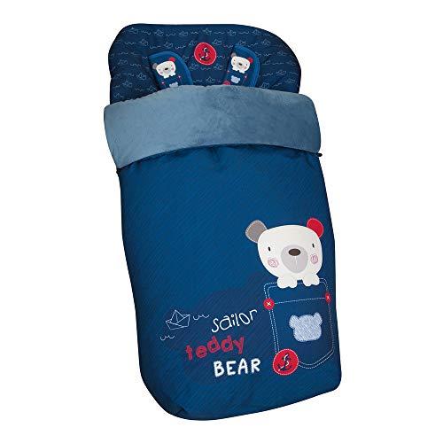 Chancelière universelle avec couvre-pieds en polaire, amovible avec fermeture éclair. Lavable en machine. (Teddy Bear)