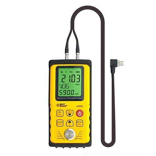 La medición de la medición científica Medidor de espesor de ultrasonidos digital Medidor, Rango 1.00 a 300.00mm Acero Velocidad de sonido 1000 a 9999m / s AR860