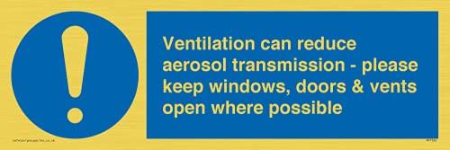 La ventilación puede reducir la transmisión de aerosoles: mantiene las ventanas, puertas y rejillas abiertas cuando sea posible