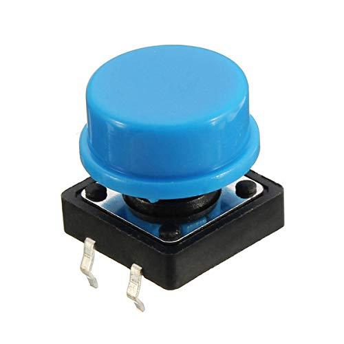Condensadores Táctil Interruptor de botón pulsador momentáneo Tacto 400Pcs Caps