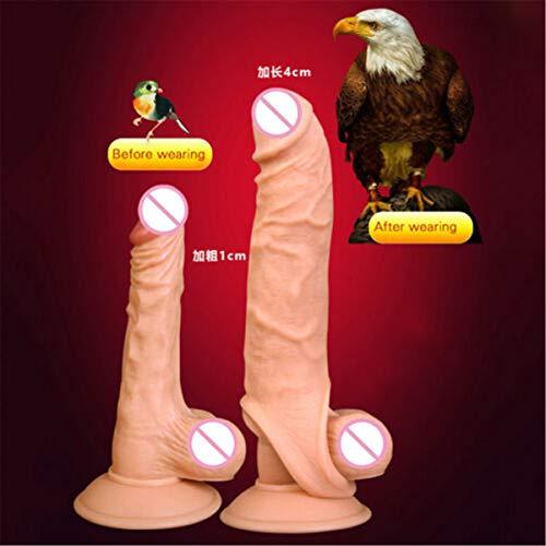 ARNDRE Skin Pênni`s Rings Male Chástity Device Pênni`s Ring Toys for Men Pênni`sring Pênni`s Sleeve Extension Reusable Cóndom 9 INCH