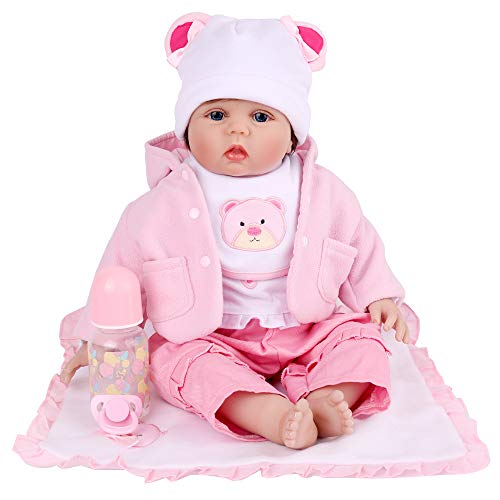 Reborn Baby Dolls, 22 Inch Realistic Baby Doll for Girls, Weighted Doll Gift Set for Age 3+